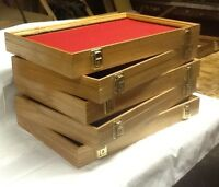 WOOD DISPLAY CASES OAK WOOD .W/ KEY LOCK FROM HATCHETT CREEK CASES 1