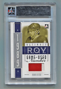 2005-06 ITG Ultimate Silver ROY Number Patch Brian Leetch #/10 New York Rangers