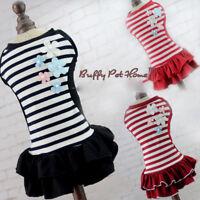 Dog Clothes Jumpsuit Small Princess Skirt Pet Cat Apparel Puppy Dress Costume