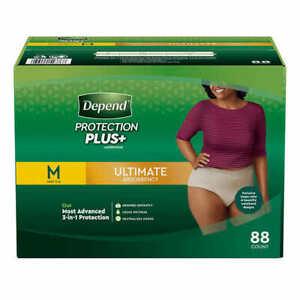 Depend FIT-FLEX Underwear for Women Size: Medium - 88Ct - Free Shipping!