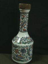 Vtg.S,E & A Metaxa Keramikos Majolica Ceramic Liquor Decanter w/cork,Greece