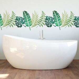 Tropical Leaf Stencil Set - Banana Fern Palm Monstera Leaves. 4 Foliage Stencils
