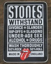 """Vintage Rolling Stones Withstand 2003 Rock Band Sticker 2 3/4"""" x 3 3/4"""" +"""