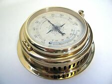 """Victory BA627 Thermometer / Hygrometer Brass 4"""" 100mm Dial From Germany 135-236"""