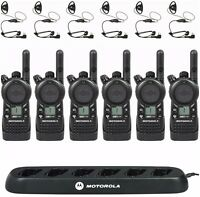 6 Motorola CLS1110 Radios with Headsets & Bank Charger + Rebate for Free Radio