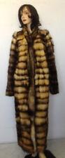 NEW SHOWROOM ITEM NATURAL FITCH FUR COAT JACKET WOMEN WOMAN SIZE 12-14 XLARGE