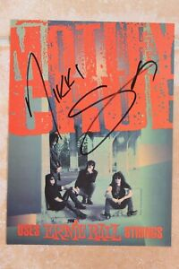 Nikki Sixx Signed Motley Crue 8x10 Magazine Photo Autographed The Dirt Tour