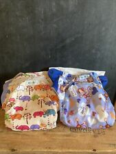 New ListingLot Of Four Ezpz Fluff Cloth Diaper Covers Aio Pocket One Size Snaps Used
