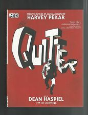 DC TPB GRAPHIC NOVEL HC THE QUITTER VERTIGO HARVEY PEKAR DEAN HASPIEL VF+ 1st