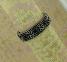 in the Uk Size 9 or 12.5 Titanium Celtic Infinity Knot Wedding Ring Band Made