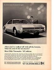 1967 OLDSMOBILE TORONADO  ~  RARE ORIGINAL PRINT AD