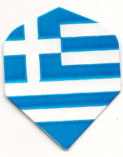 Amerithon Dart Flights: Greece Greek Flag -1 Standard Set +2 Bonus Sets
