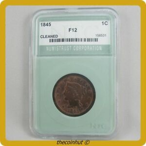 1845 Braided Hair Large Copper Cent Choice One of a Kind Coin Coinhut3134