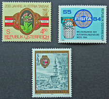 AUTRICHE timbre - Yvert et Tellier n°1598 à 1600 n** stamp Austria (cyn5)