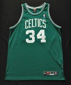 PAUL PIERCE Boston Celtics Nike Dri-Fit NBA Authentic Jersey Green Sewn 48 XL