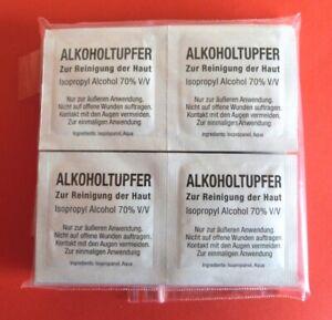 200 x Alkoholtupfer II Desinfektion I Alkoholpads I Desinfizieren I