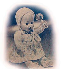 """Vintage Baby Doll 7 piece 10.5"""" 2 ply(Daisy Motif)"""