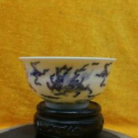 Chinese Ming Dynasty Chenghua Period Blue-and-white Porcelain Kylin Unicorn Bowl