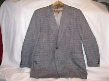 "Mens Size 48 Gray Tweed Sports Jacket Pietro Rossi 34 1/2"" Long Wool (O)"