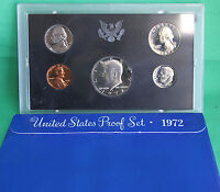 1972 S United States Mint Annual 5 Coin Proof Set with Original Box