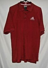 Adidas ClimaLite Men's Short Sleeve Dark Red Stretch Polo/Golf Shirt, Sz. Medium