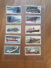 Speed, WD & HO Wills, 58 Cigarette Cards, in protective cover