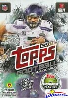 2014 Topps Football HUGE EXCLUSIVE Factory Sealed 72 Card Hanger Box-16 ROOKIES!