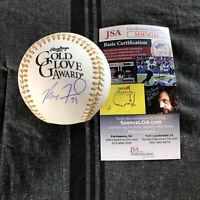 Max Fried Signed Gold Glove Baseball Autographed Auto Atlanta Braves + JSA COA