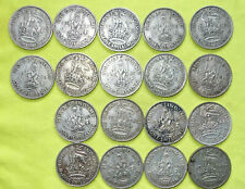 More details for 18x 1937 - 1946 (all different) silver one shilling george vi (1936-52) coins