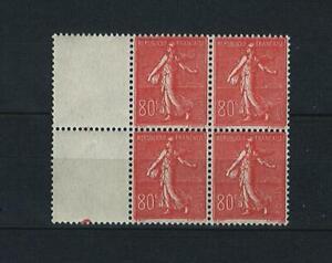 France Stamps | 1924-26 | Sower New Values 80c #160 | MNH OG | Block of 4
