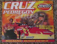 RARE CRUZ PEDREGON AUTO SIGNED 8 x 10 PHOTO CARD NHRA RACING SUPER SALE