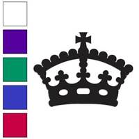 Royalty Crown Monarch Queen Decal Sticker Choose Color + Size #3073