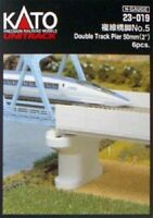 "Kato 23-019 50mm (2"") Double Track Pier Set (Concrete) (N scale)"