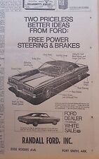 1971 newspaper ad for Ford - Torino 500, Galaxie 500, free power steering, brake
