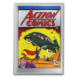 Niue - 2018- Action Comics #1  Poster - 35 grams Pure Silver Foil