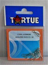 Agrafe inox Tortue T2 par 10