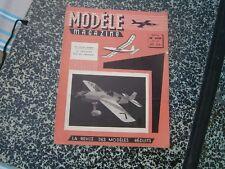 Modéle magazine avion genre  MRA  N°108 Mai 59 PLAN: Motomodéle RC moteur Micron