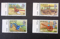 JERSEY SG119/122 NINETEENTH CENTURY FARMING SET OF 4 STAMPS WITH MARGINS MNH