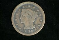 1848 Liberty Young Matron Head Large Cent Nice Detail M-1778