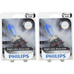 2 pc Philips High Low Beam Headlight Bulbs for Ford Aerostar Bronco Cougar me