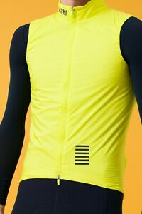 Rapha pro team insulated gilet hi viz yellow medium new with tags Polertec