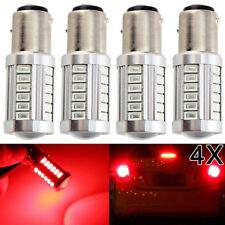 4 Pcs RED BAY15D 1157 Car Tail Stop Brake Light 5630 33 SMD LED Canbus Bulb 12V
