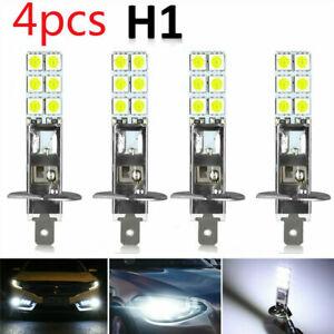 4X H1 Super White 6000K 55W 12 SMD-5050 LED Headlight Bulbs Driving Light Kit UK