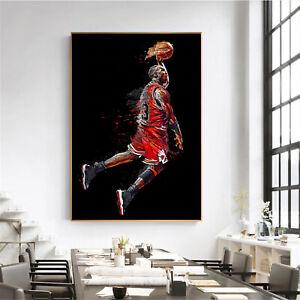 NBA Chicago Bulls Michael Jordan 23 art Print-Poster-Canvas-Basketball 30x40