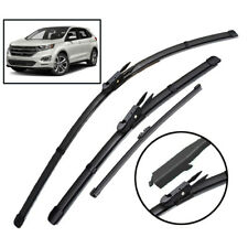 """3Pcs Front Rear Windshield Wiper Blades Set For Ford Edge MK2 15-19 28""""28""""15"""""""