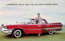 1960 Dodge Dart,4-Door,Advertising Postcard,Lawrence Welk,1960