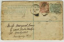 GB QV 1880 REGISTERED LETTER [WITH CONTENTS WRITTEN IN WELSH] TO MACHYNLLETH