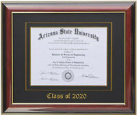 DIPLOMA FRAME  MAHOGANY (CUSTOMIZABLE)  8' WIDE BY 6' HIGH SIZE