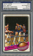1979/80 Topps #53 Phil Smith PSA/DNA Certified Authentic Auto Autograph *9494