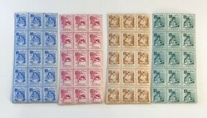 Indonesia 1956 SC# B88-91 Benefit Blind Braille Surtax - Set of 15 Stamps 4V MNH